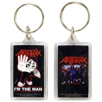 Anthrax I'm The Man Lucite Keychain