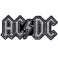 AC/DC Chrome Logo Patch