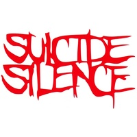 Suicide Silence Red Logo Rub On Sticker