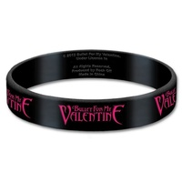 Bullet For My Valentine Logo Gummy Wrist Band