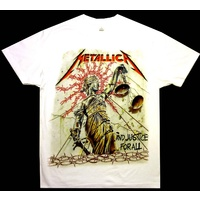 Metallica Barbwire Justice White Shirt