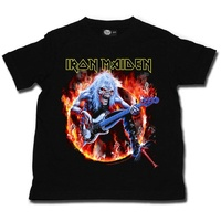 Iron Maiden Fear Live Flames Kids T-shirt 2-12 Years
