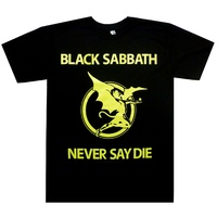 Black Sabbath Never Say Die Yellow Shirt