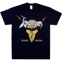 Venom Black Metal Distressed Black Shirt