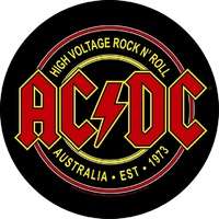 AC/DC High Voltage Rock N Roll Circular Back Patch