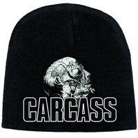 Carcass Necro Head Discharge Print Beanie Hat