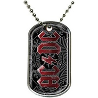 AC/DC Black Ice Dog Tag Necklace