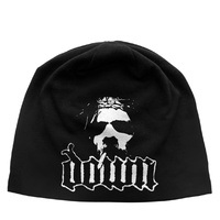 Down Logo Face Jersey Beanie Hat