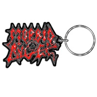 Morbid Angel Red Logo Metal Keychain