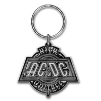 AC/DC High Voltage Metal Keychain