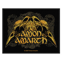 Amon Amarth Raven Skull Woven Patch