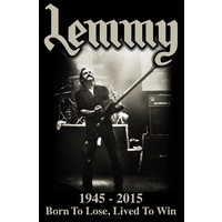 Motorhead Lemmy Lived to Win Poster Flag