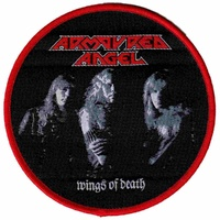 Armoured Angel Wings Of Death Round Patch