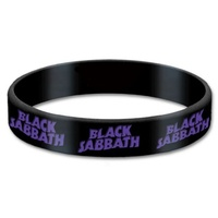 Black Sabbath Logo Gummy  Wrist Band