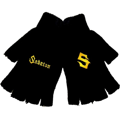 Sabaton Logo Fingerless Gloves