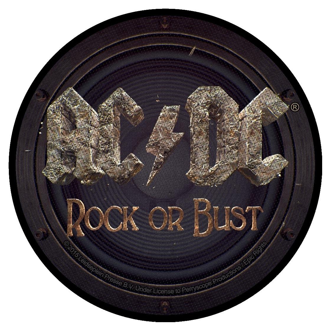 ac dc rock or bust patch. Black Bedroom Furniture Sets. Home Design Ideas