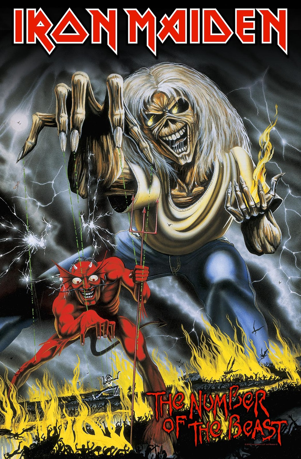 838286d9 Iron Maiden Number Of The Beast Premium Poster Flag