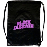 Black Sabbath Purple Logo Drawstring Bag