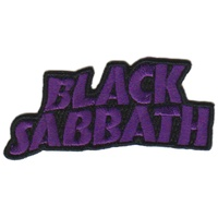 Black Sabbath Master Of Reality Cut Out Logo Patch