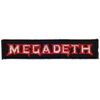 Megadeth Logo Embroidered Patch