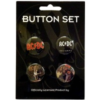 AC/DC Badge Button Set #3