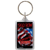 Skid Row Scream Lucite Keychain