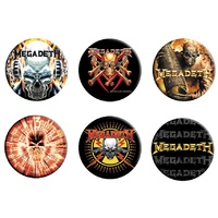 Megadeth 6 Button Badge Set #2