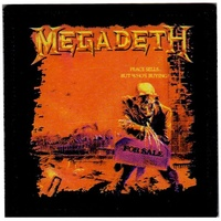 Megadeth Peace Sells But Whose Buying Iron On Patch