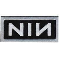 Nine Inch Nails White Logo On Black Patch
