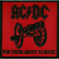 AC/DC For Those About To Rock Red  Patch