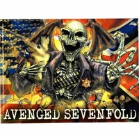 Avenged Sevenfold Confederate Sticker