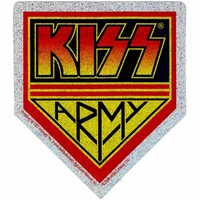 Kiss Army Glitter Sticker
