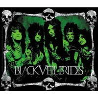 Black Veil Brides Skull Frame Sticker