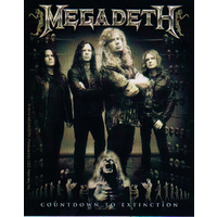 Megadeth Countdown To Extinction Band Photo Sticker