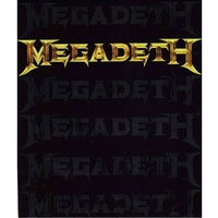 Megadeth Multi Logo Sticker