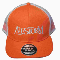 Alestorm Logo Orange Hat Snapback Cap