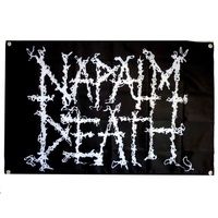 Napalm Death Logo Flag