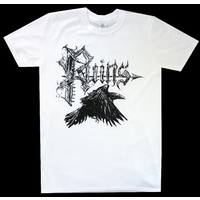 Ruins Crow Logo White Shirt