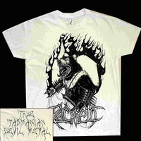 Psycroptic True Tasmanian Devil Metal White Shirt