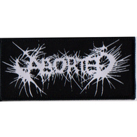 Aborted White Logo Patch