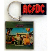 AC/DC Dirty Deeds Logo Metal Keychain