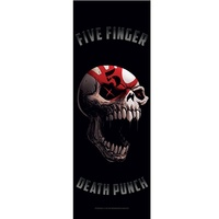 Five Finger Death Punch Screaming Skull Door Poster Flag
