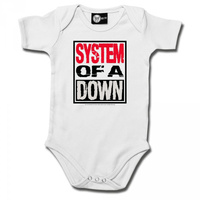System Of A Down Logo White Baby Bodysuit