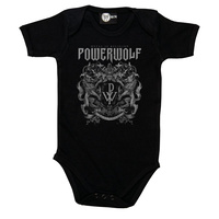 Powerwolf Metal Is Religion Crest Baby Bodysuit