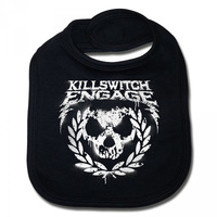 Killswitch Engage Skull Leaves Baby Bib