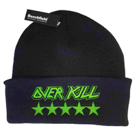 Overkill Stars Embroidered Logo Beanie