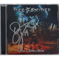 Dee Snider ‎For The Love Of Metal CD Autographed