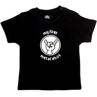 My First Metal Shirt Baby T-shirt 0-18 Months (choice of 4 sizes)
