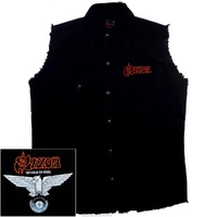 Saxon Wheels Of Steel Sleeveless Work Shirt