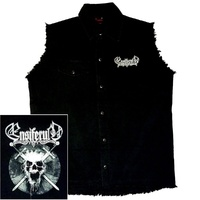 Ensiferum Skull Sleeveless Work Shirt